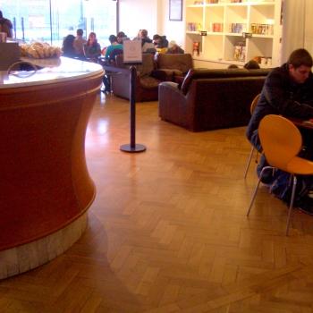 CAFE MANGA, London County Hall - cyklinowanie parkietu dębowego