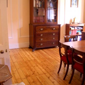 Emery Hill St, WESTMINSTER, Londyn - cyklinowanie i lakierowanie podłogi sosnowej